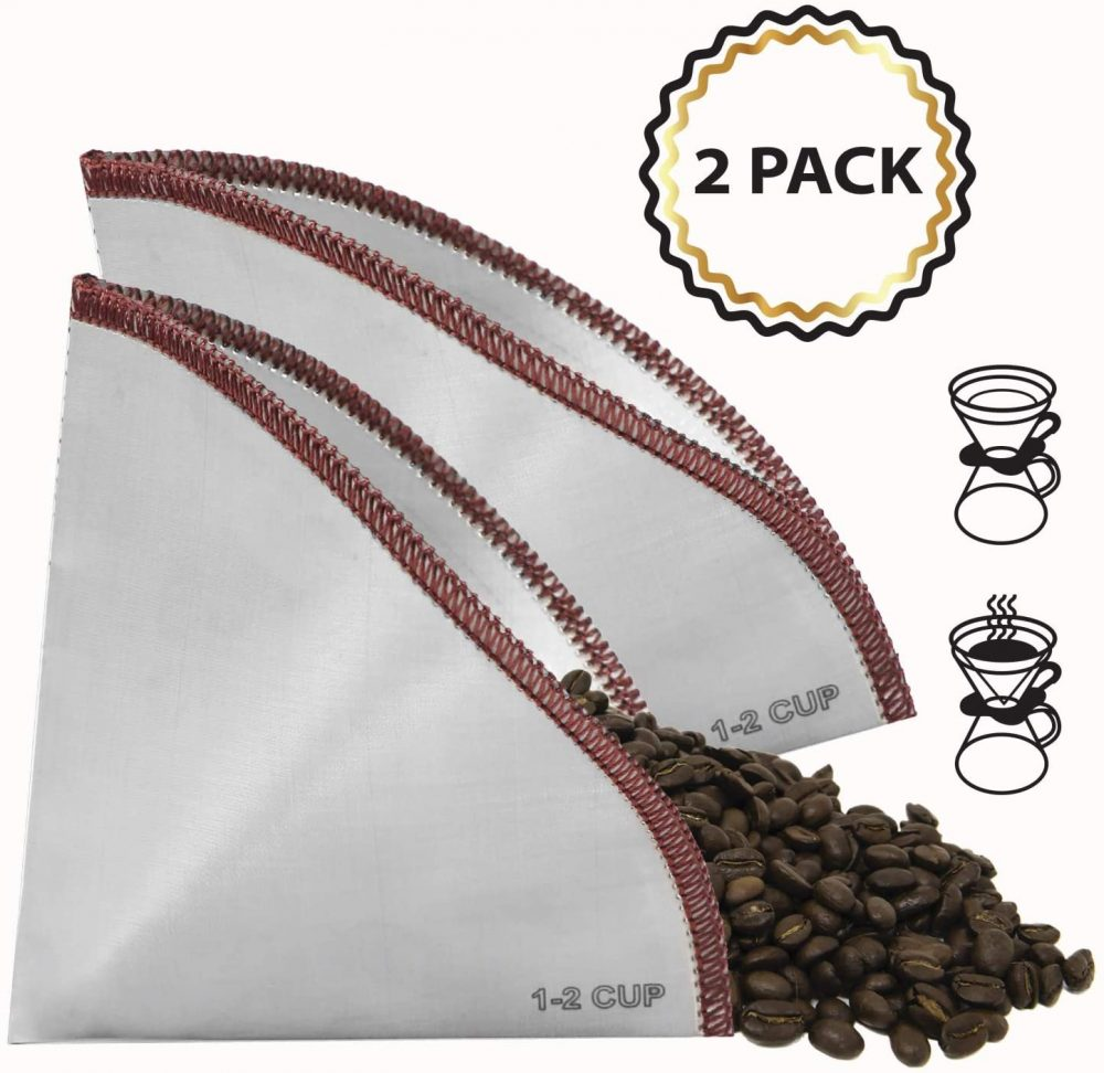 reusable coffee filter stainless steel flexible